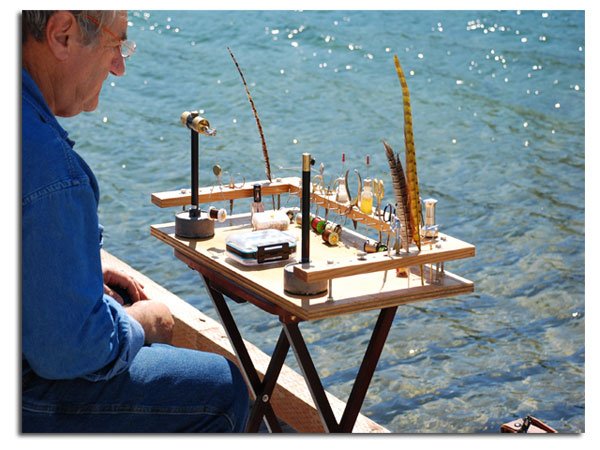 portable fly tying bench plans